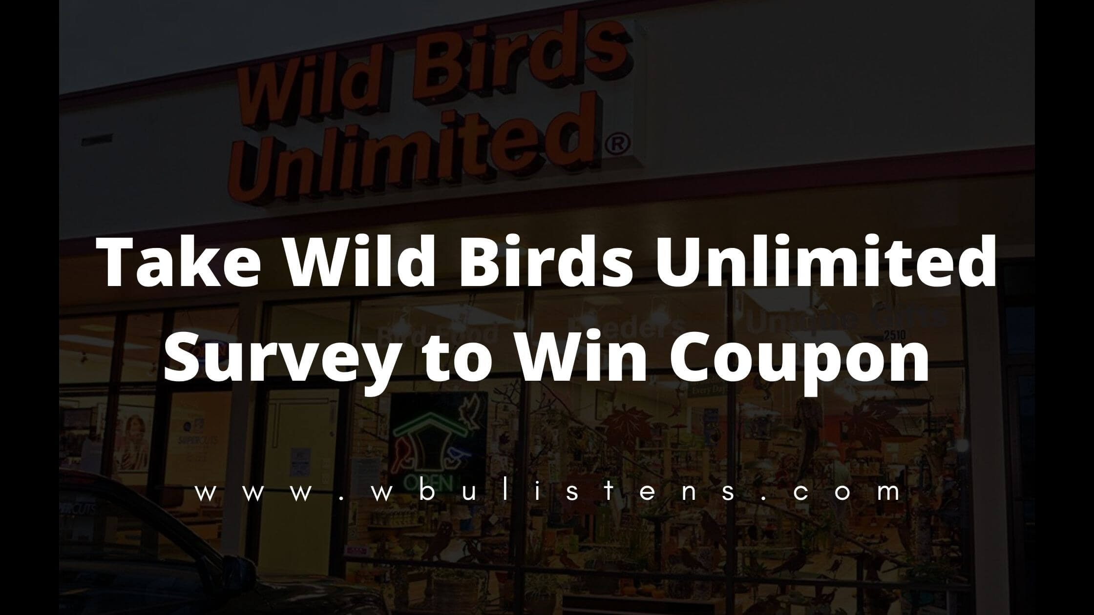 wild birds unlimited survey
