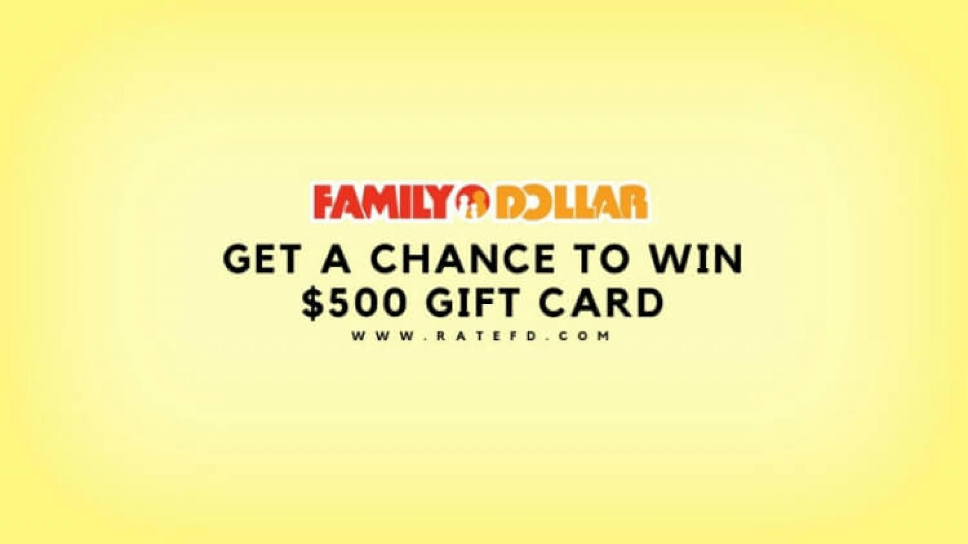 Ratefd Survey Step By Step Guide | Family Dollar Survey